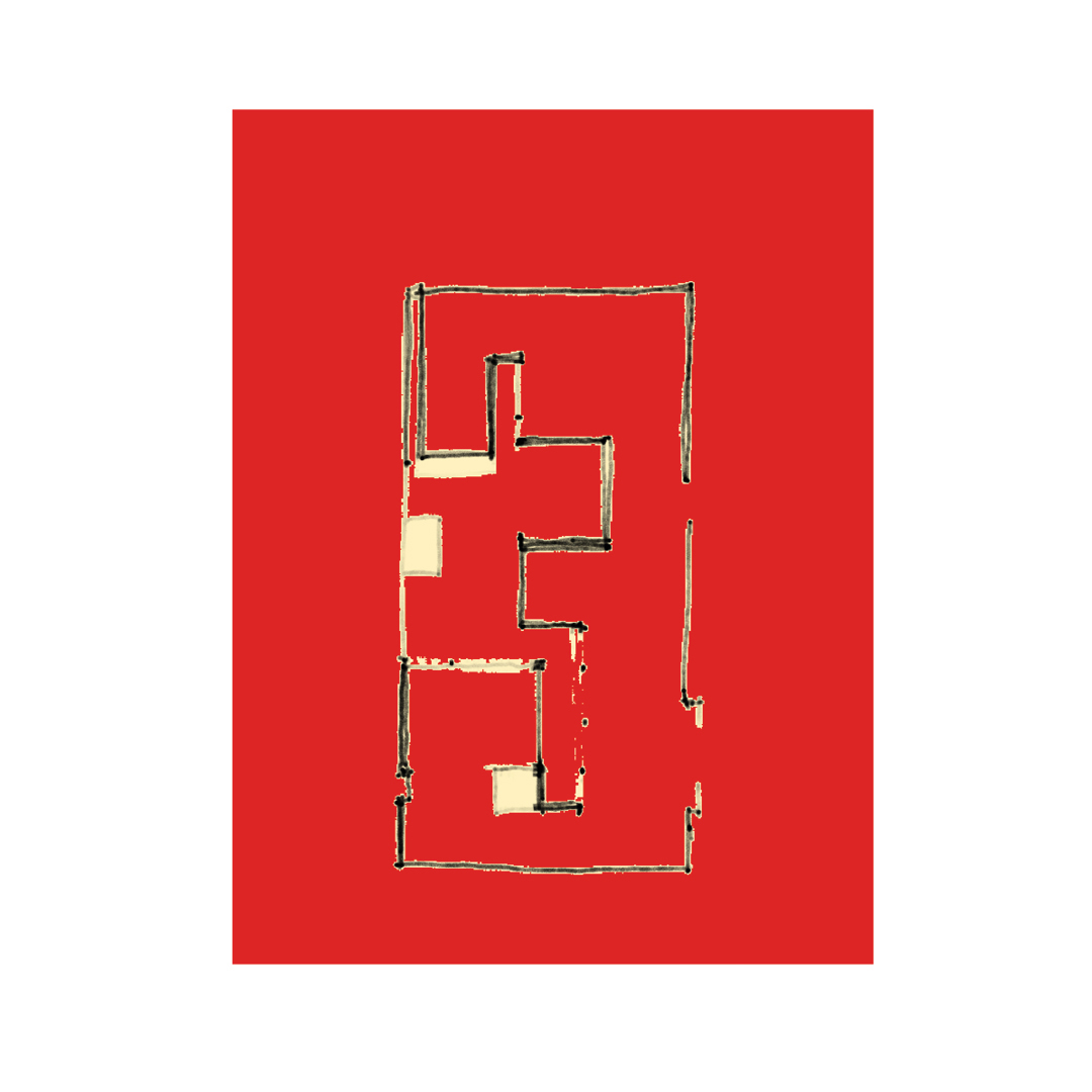 Maziar Behrooz Floor Plan_Red Brick Walled House